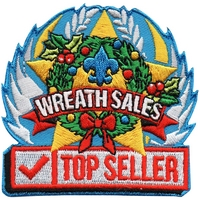 Wreath Sales Top Seller Patch