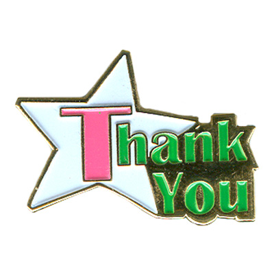 Thank You (Star) Pin