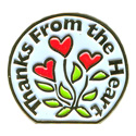 Thanks From The Heart-Wht Pin
