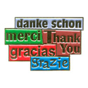 Thank You (5 Languages) Pin