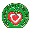 Thanks From The Heart-Grn Pin