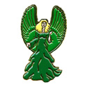 Green Angel (Hands Side) Pin