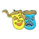 Theatre (Masks) Pin