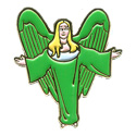 Green Angel (Arms Out) Pin