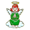 Green Angel  (Sitting) Pin