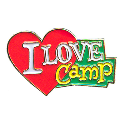 I Love Camp Pin