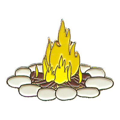 Camp Fire Pin
