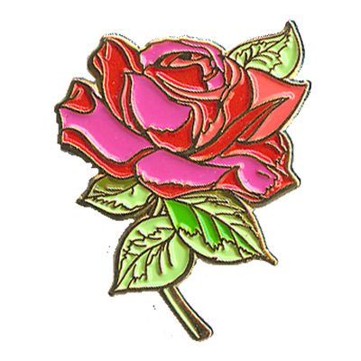 Rose (Red With Stem) Pin