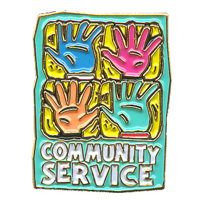 Community Service (Hands) Pin