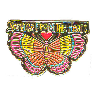 Service From The Heart Pin
