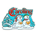 Caroling Snow People Pin