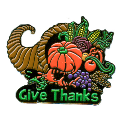 Give Thanks Pin
