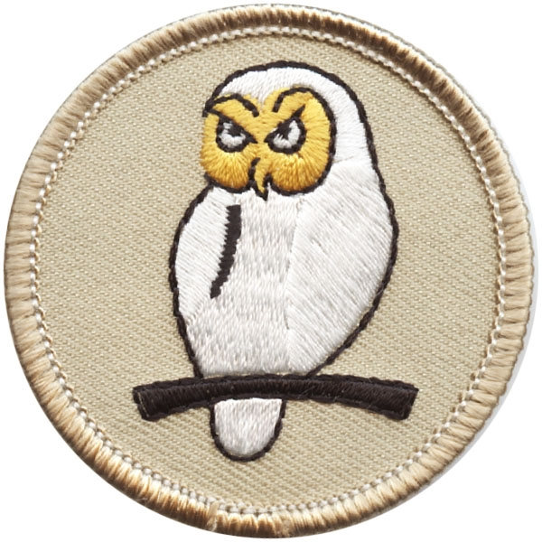 Horned owl patrol patch.