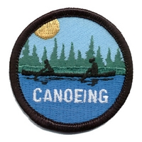 Canoeing-Silhouette