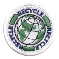 Recycle-Globe W/ Green Arrows