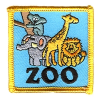 Zoo-Blue/ Yellow Border