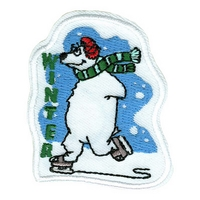 Winter-Skating Polar Bear