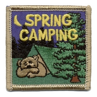 Spring Camping - Bear In Tent
