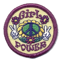 Girl Power - Peace Signs Patch