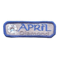 Birthstone- Apr-Diamond Patch