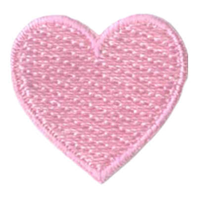1 Inch Heart (Pink) Patch