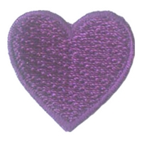 1 Inch Heart (Purple)