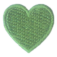 1 Inch Heart (Kelly Green)
