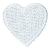 1 Inch Heart (White) Patch