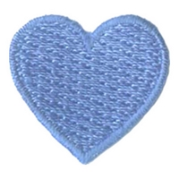 1 Inch Heart (Light Blue)