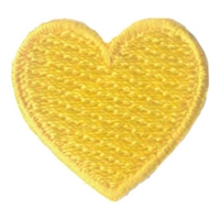 1 Inch Heart (Yellow)