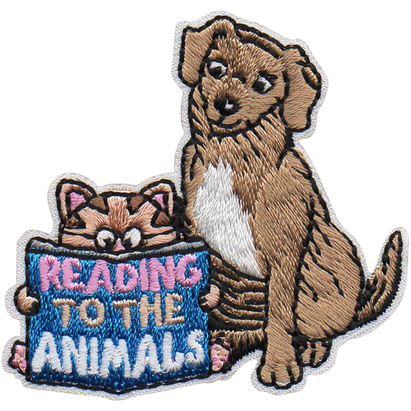 reading to animals fun patch