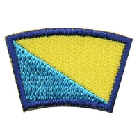 Blue and Gold Segment Patch