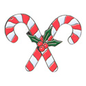 Candy Canes Crossed Pin