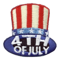 4th Of July (Top Hat) Patch