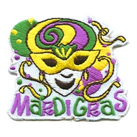 Mardi Gras (Yellow Mask) Patch