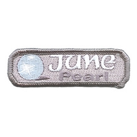 Birthstone-June-Pearl Patch