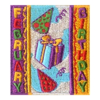 February Birthday Patch