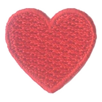 1 Inch Heart (Red) Patch