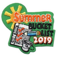 2019 Summer Bucket List Patch
